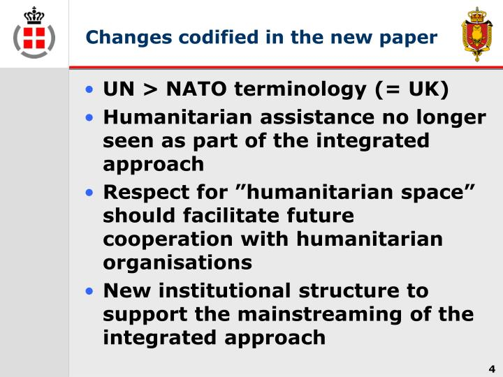 Changes codified in the new paper