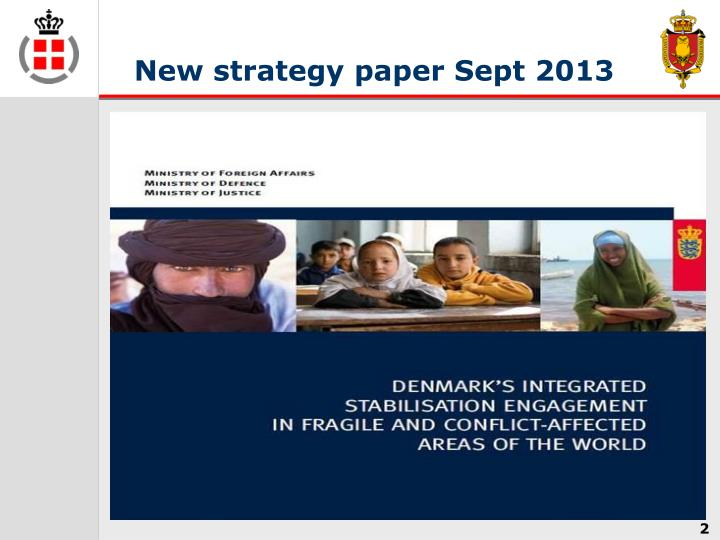New strategy paper Sept 2013