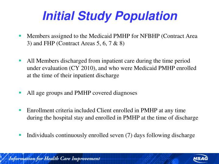 Initial Study Population