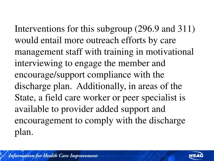 Interventions for this subgroup