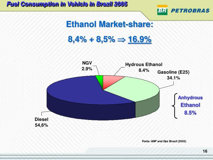Fuel Consumption in Vehicle in Brazil 2005