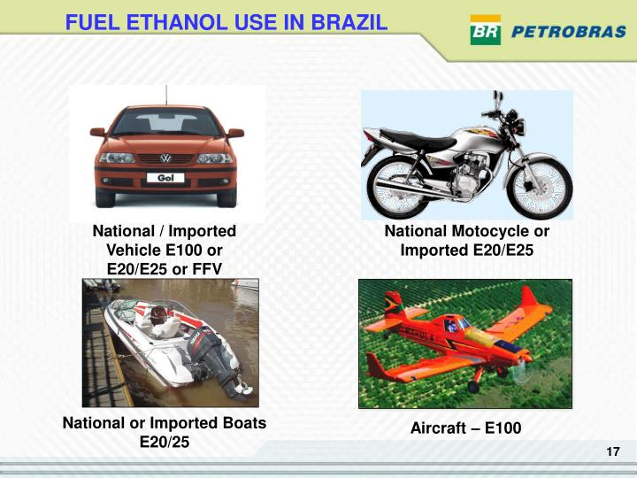 FUEL ETHANOL USE IN BRAZIL