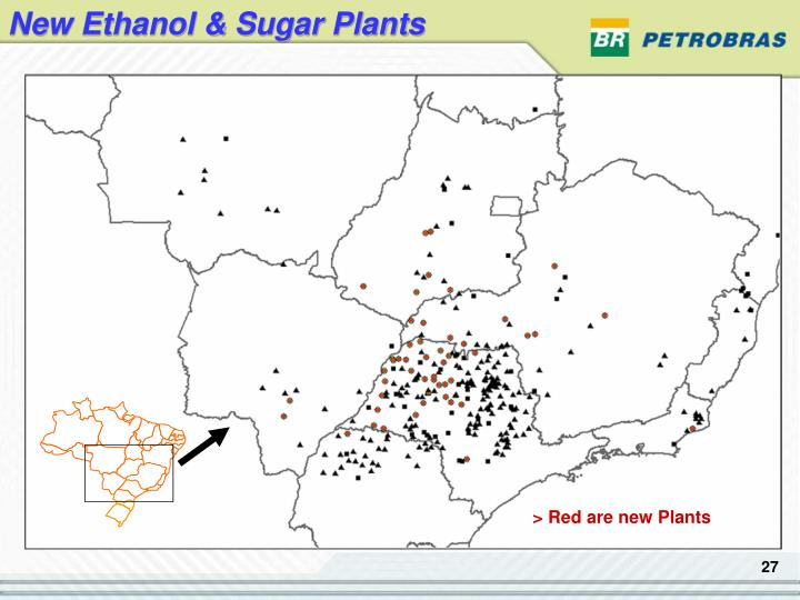 New Ethanol & Sugar Plants