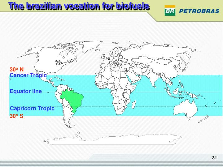 The brazilian vocation for biofuels