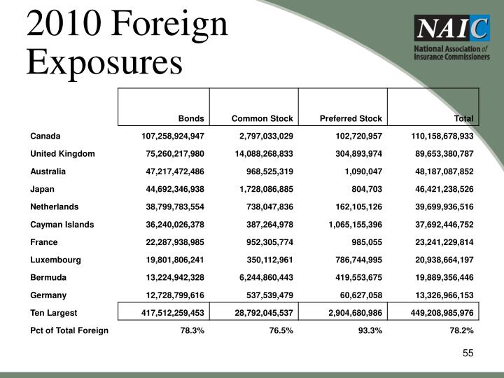 2010 Foreign Exposures