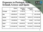 exposure to portugal italy ireland greece and spain