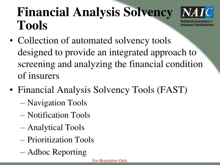 Financial Analysis Solvency Tools