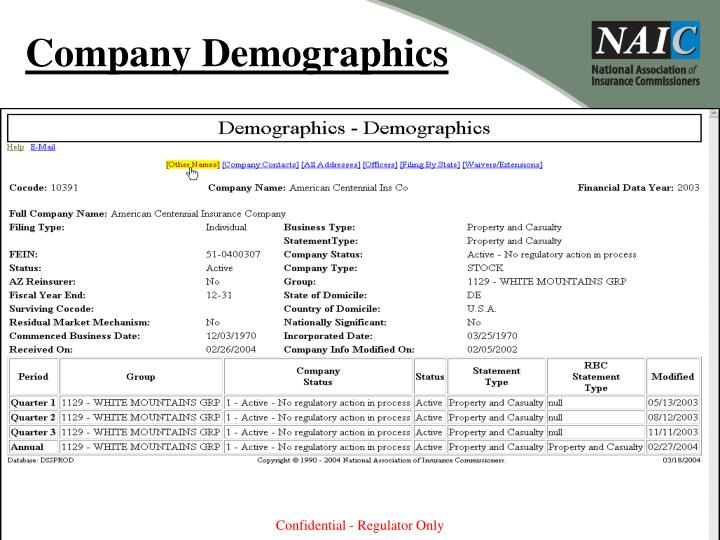 Company Demographics