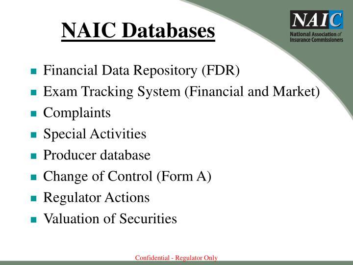NAIC Databases
