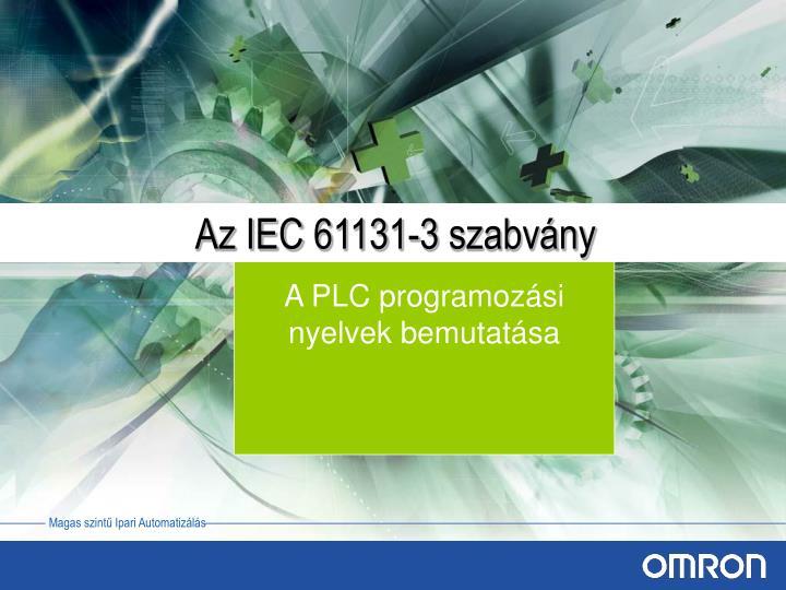 Az IEC 61131-3 szabvány