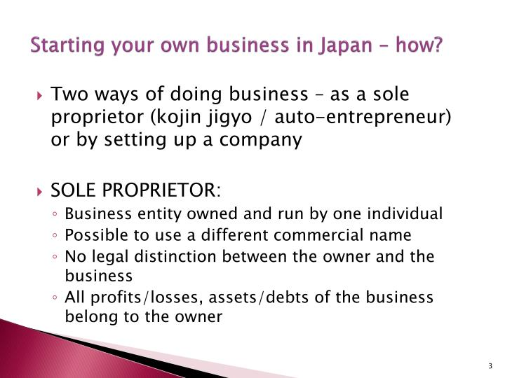 Starting your own business in japan how