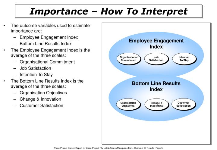 The outcome variables used to estimate importance are: