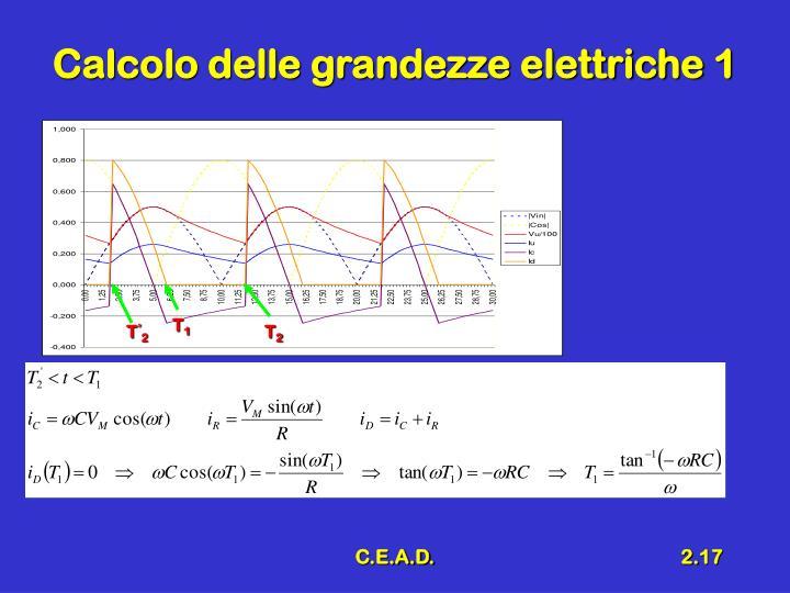 Calcolo delle grandezze elettriche 1