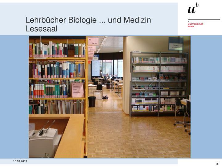 Lehrbücher Biologie ... und Medizin