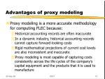 advantages of proxy modeling