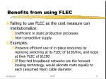 benefits from using flec1