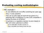 evaluating costing methodologies1