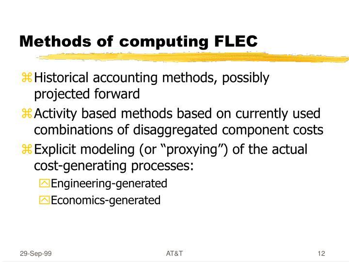 Methods of computing FLEC