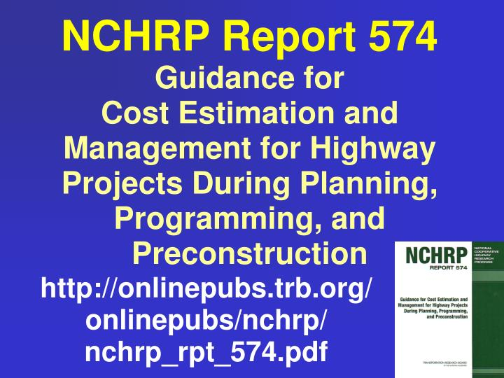 NCHRP Report 574