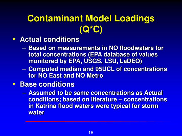 Contaminant Model Loadings (Q*C)