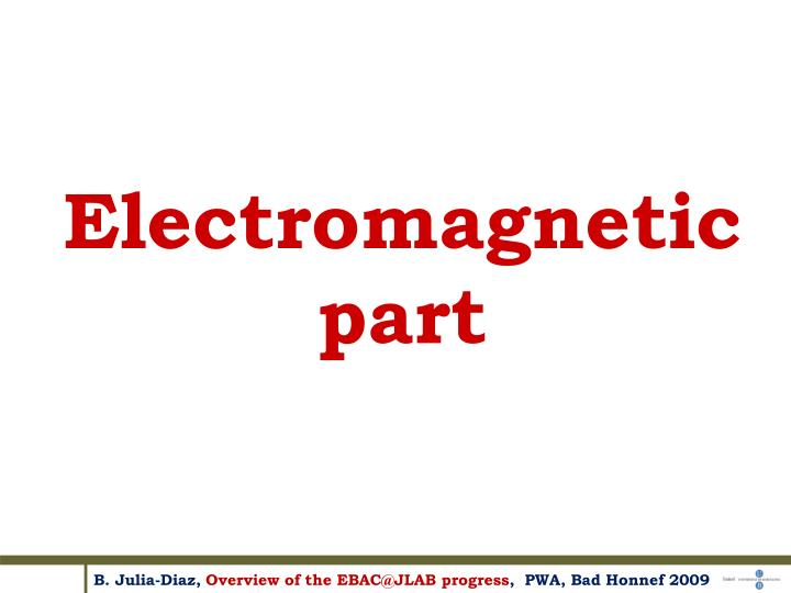 Electromagneticpart