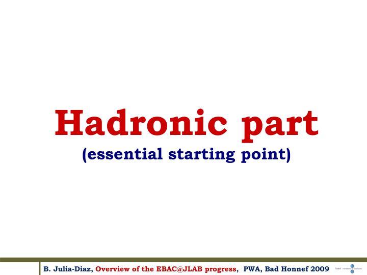 Hadronic part