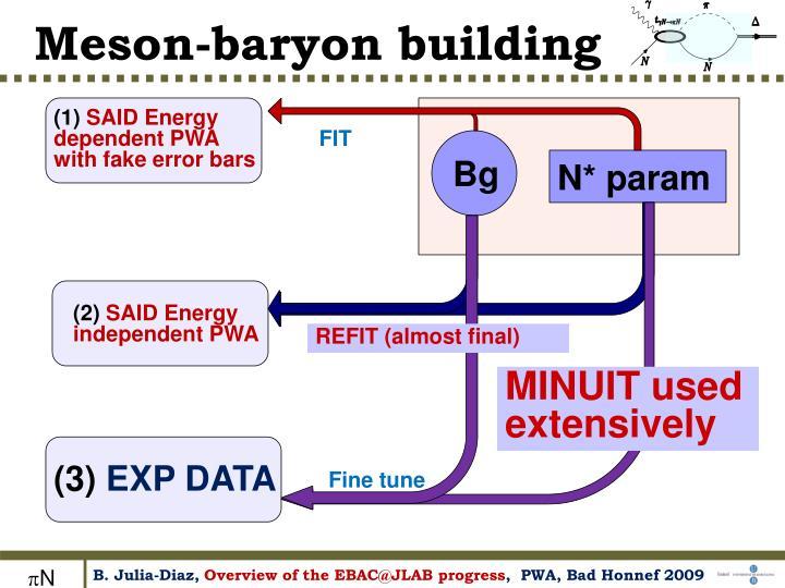 Meson-baryon building
