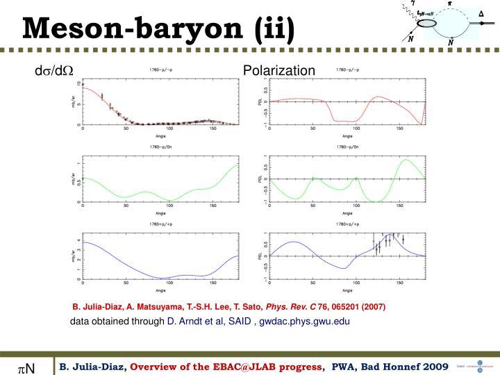 Meson-baryon (ii)