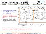 meson baryon iii