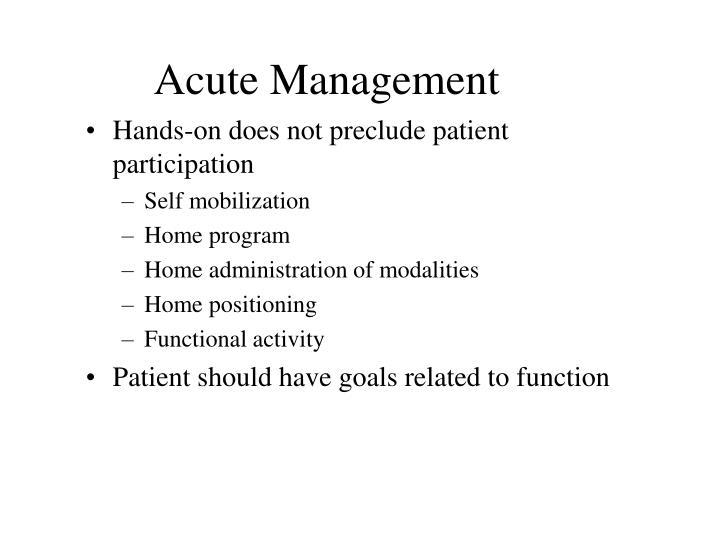 Acute Management