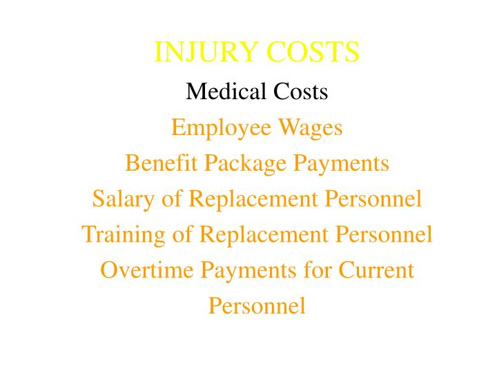 INJURY COSTS
