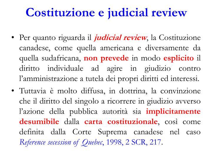 Costituzione e