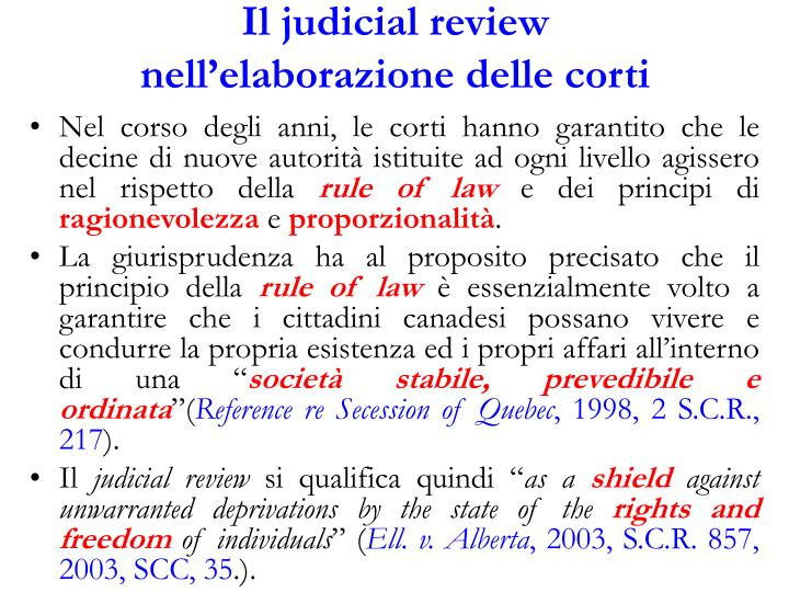 Il judicial review