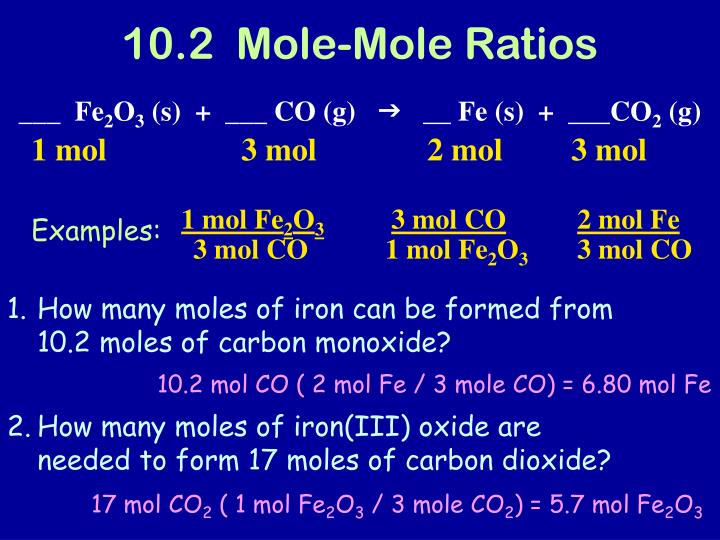 10.2  Mole-Mole Ratios