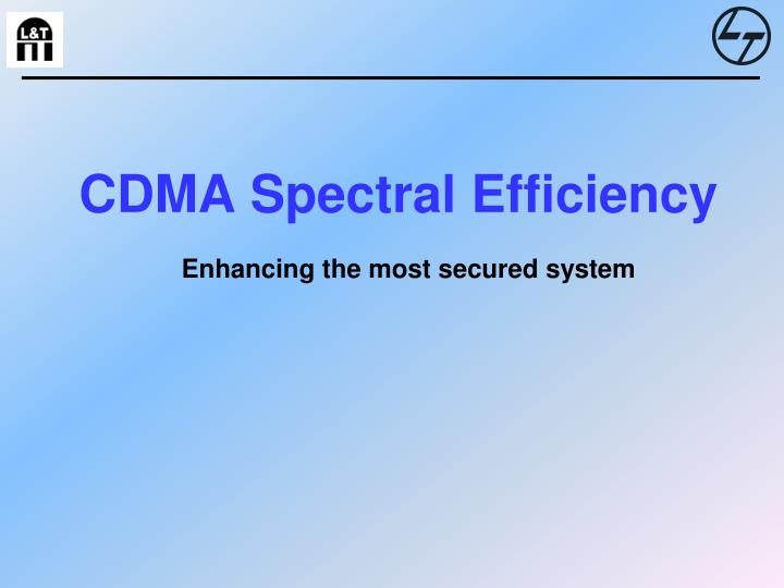 Cdma spectral efficiency