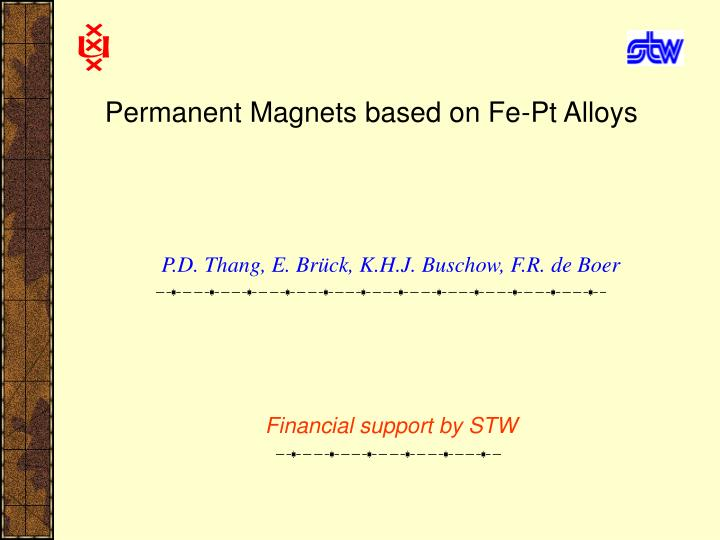 Permanent magnets based on fe pt alloys