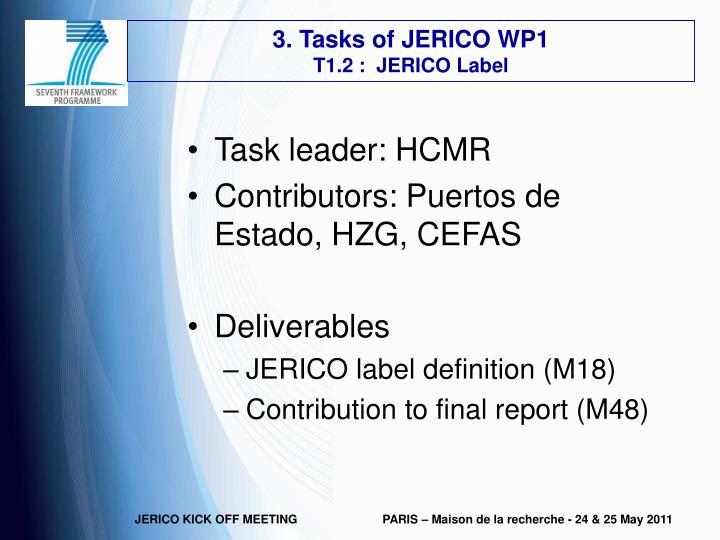 3. Tasks of JERICO WP1