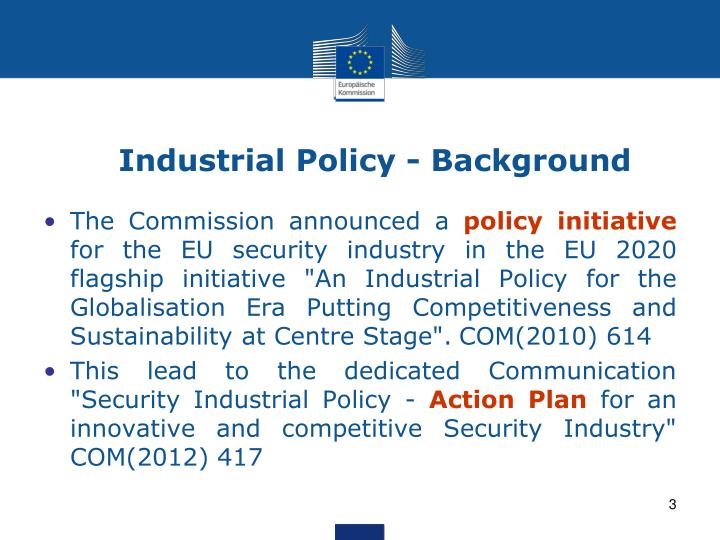 Industrial policy background