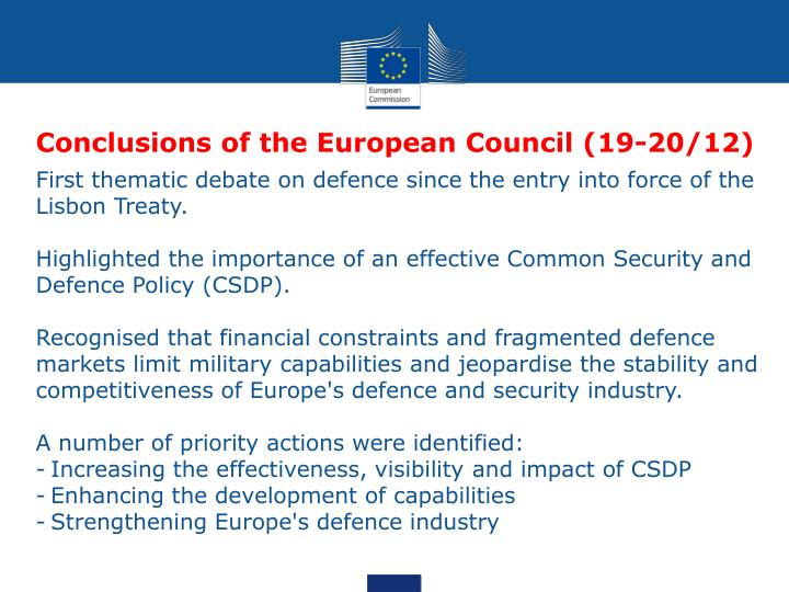 Conclusions of the European Council (19-20/12)