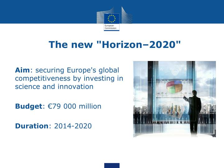 "The new ""Horizon–2020"""