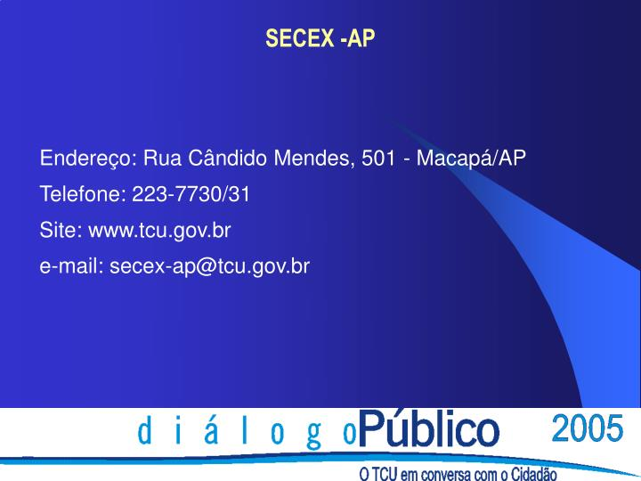 SECEX -AP