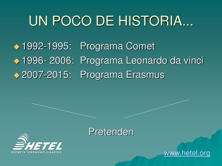 UN POCO DE HISTORIA...