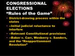congressional elections rules of the game1