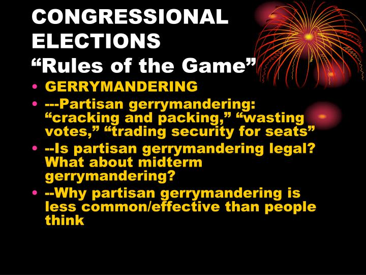 Congressional elections rules of the game2