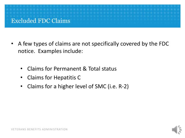 Excluded FDC Claims