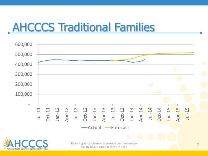 AHCCCS Traditional Families