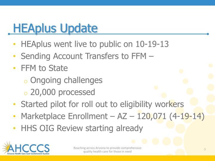 HEAplus Update