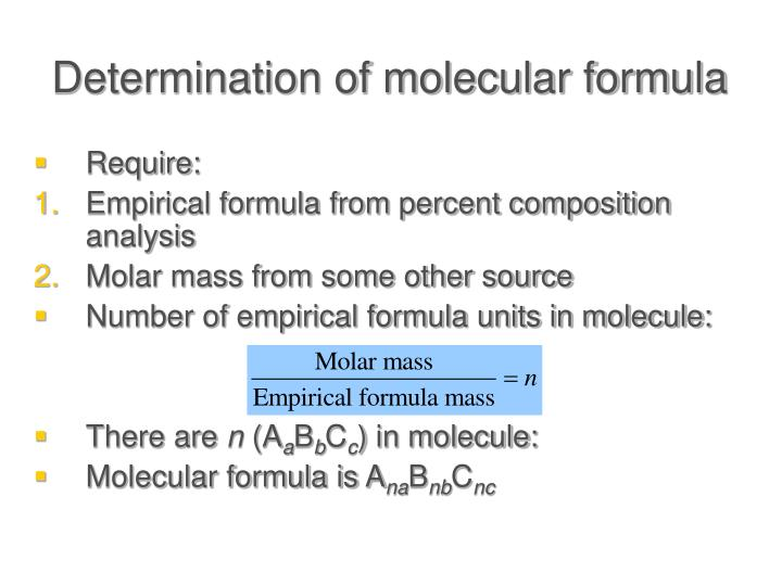 Determination of molecular formula