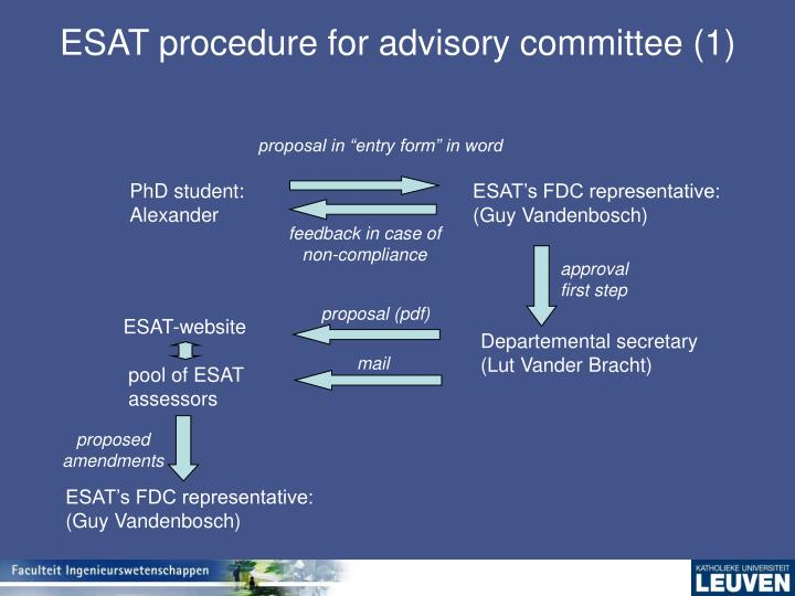 ESAT procedure for advisory committee (1)
