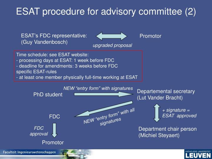 ESAT procedure for advisory committee (2)